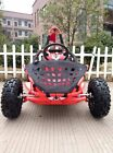 New 80cc Go Kart Buggy Off Road Automatic Roll Cage Foot Controls seat belt