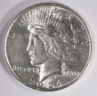 1924 S PEACE SILVER DOLLAR CH BU Lot 53