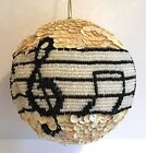 Christmas Ornament Music Notes Beads Sequins Treble Clef Large 4