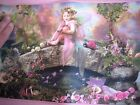 EXPRESSIONS Enchanted Forest Fairies Flowers Wall Paper Border 5 Yards