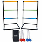 Ladder Toss Lawn Game Back Yard Family Fun Set 6 Rubber Bolos Carrying Case