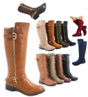 Womens Fashion Zipper Low Heel Riding Knee High Boots Shoes Size 55 11 NEW