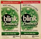 2 Blink Contacts Lubricating Eye Drops 34 fl oz each Free Shipping