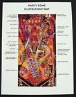 Party Zone Pinball Machine Bally Shot Map 1991-08