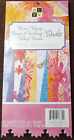 DCWV Floral Foliage Stack Sheets Printed Paper Crafts Scrapbook Double Sided