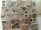 USED Stampin Up Stamp Sets Wooden Blocks Rubber RETIRED CHOOSE Combine Ship
