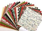 12X12 Scrapbook Paper Lot 20 Sheets Country Christmas Print Card Making L79