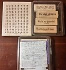 Stampin Up Lot of 3 Little Bit of Happiness Sassy Sayings II Word Search