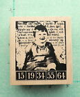 TIM HOLTZ  DARLING  Adorable Giggle Girl Collage Rubber Stampers Anonymous NEW