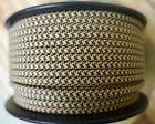 Brown Tan 2 Wire Flat Cloth Covered Cord 18ga Vintage Style Lamps Nylon Fabric