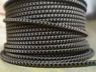 Black Brown 2 Wire Flat Cloth Covered Cord 18ga Vintage Style Lamp Nylon Fabric