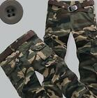 Military Camouflage Mens Army Baggy Trousers Combat Slim Fit Pants Cotton Blend