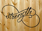 Inspirational Words Strength Metal Wall Art 32x 16