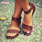 Womens New Roma Leisure Sandal Shoes Beach Dress Ankle Strap Pumps England Comfy
