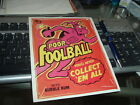 1982 Topps Wacky Packages Cereal Box Panel Foolball RARE!