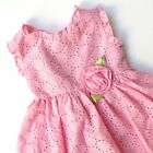 Sweet Heart Rose Pink Eyelet Dress Vintage Inspired Summer Baby Girl 24 Months