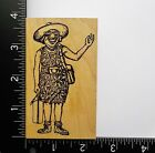 Woman Tourist By Rubber Baby Buggy Bumpers Lady Funny People Rubber Stamp 1A