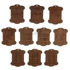 10pcs Wood Cardboard Embroidery Floss Craft Thread Bobbins Storage Holder Bulk