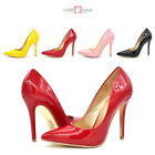 New Women Pointy Toe Stiletto Heel Office Wedding Party Pump Patent Leather Doll