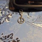 Peace Sign Cell Phone Clip Charm Dust Cover All Phones Free Ship