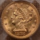 1878 Gold $2.50 quarter Eagle, PCGS MS64, great for type   DavidKahnRareCoins