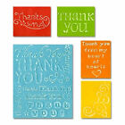 Sizzix Textured Embossing Folders Thank You Set 2 655851