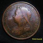1899 Nice Great Britain Half Penny Coin Queen Victoria Bronze Token 1