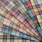 Tartan Fine Glitter Fabric A4 Or A5 Sheets Felt Backed Gingham For Bows  Crafts