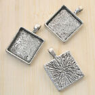 6pcs antiqued silver square picture frame G860
