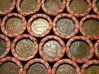 ONE LINCOLN WHEAT CENT PENNY ROLL  INDIAN HEAD BOTH ENDS!  1909-1958        To4