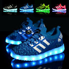 Boys Girls Kids Casual USB LED Light Up Shoes Children Luminous Sneakers