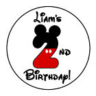 24 PERSONALIZED MICKEY MOUSE BIRTHDAY PARTY FAVOR LABELS STICKERS 167