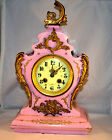 Japy Freres Hand Painted French Porcelain Mantel Clock Recently Cleaned