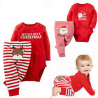 USA MY First Christmas Newborn Baby Girls Romper Bodysuit Outfits Christmas Xmas