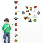 US Height Chart Measure Cartoon Wall Sticker DIY Removable Decal Kids Baby Room