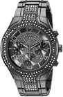 Women's Guess Crystallized Black Tone Band Watch U0628L5