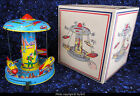 Chein mechanical Space Ride rocket carousel 1958 tin toy