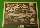 1970 Super Bee 1/25 Pro Street instruction sheet repair manual dirty Donny model