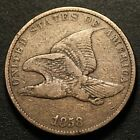 1858 FLYING EAGLE CENT F VF Small Letters SL