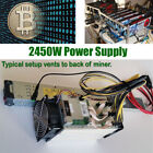 100V 240V 2450W Power Supply for Antminer S9 T9 S7 L3 mining 94 Efficiency BTC
