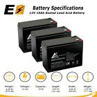 12V 10Ah Sealed Lead Acid Battery for Currie eZip E 1000 E1000 Scooter  3 Pack