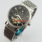 Ossna 40mm Black dial Automatic Mechanical Date Day Stainless steel Watch 2179