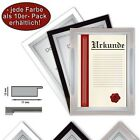 10 x Certificate Frame, DIN A4, 21x29, 7 Photo Picture Frame A4, 3 different