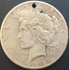 1928 P PEACE SILVER DOLLAR RARE XF DETAILS KEY DATE COIN MINTAGE 360649