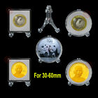 10X Clear Display Easel Stand Holder For America Silver/Gold Eagle Coins 30-60mm