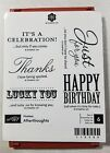 Stampin Up Afterthoughts Wood Mount Stamp Birthday Thanks Lucky Just For You