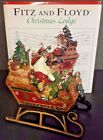 Fitz & Floyd Christmas Lodge Santa's Sleigh Centerpiece Musical