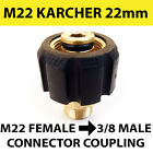 KARCHER type M22 Female Screw Thread 22mm to 3/8 male Screw Coupling connector
