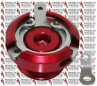 DUCATI HYPERMOTARD 1100 RED ENGINE OIL FILLER CAP RACE STYLE WITH SAFETY WIRE