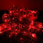 RED 100 LED 32ft Fairy String Lights Copper Wires Event Party Perfect Holiday